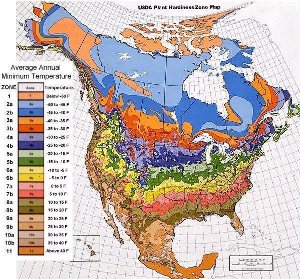 North American Plant Hardiness Zone Map